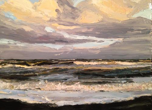 Svantje Miras, Himmel und Meer, Landscapes: Beaches, Landscapes: Sea/Ocean, Expressionism