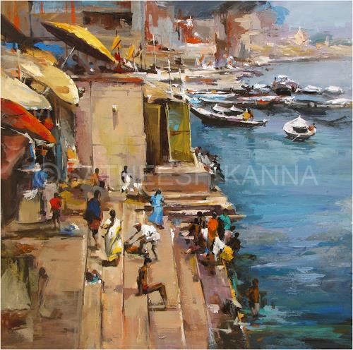 satheesh kanna, Varanasi, Miscellaneous Landscapes, Nature: Miscellaneous, Expressionism