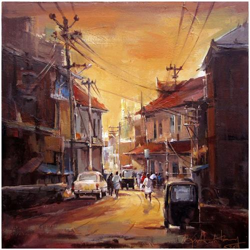 satheesh kanna, A street from Kerala [India], Miscellaneous Landscapes, Nature: Miscellaneous, Expressionism