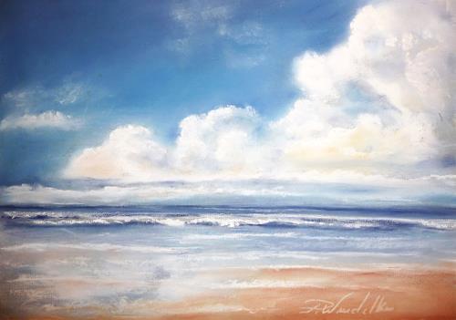 Petra Wendelken, Lust auf Meer, Landscapes: Sea/Ocean, Land-Art