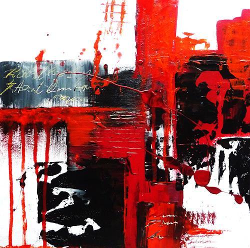 Petra Wendelken, Spiegelung der Gefühle 2, Abstract art, Abstract Art, Abstract Expressionism