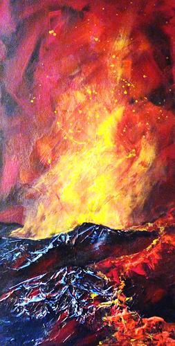 Petra Wendelken, Magma, das Blut der Erde, Nature: Fire, Land-Art