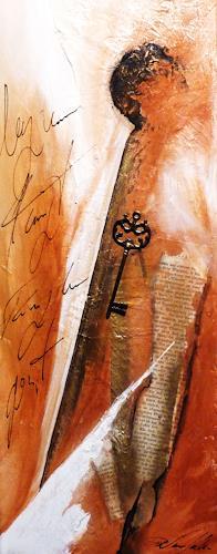 Petra Wendelken, verschlüsselte Worte, Abstract art, Abstract Art