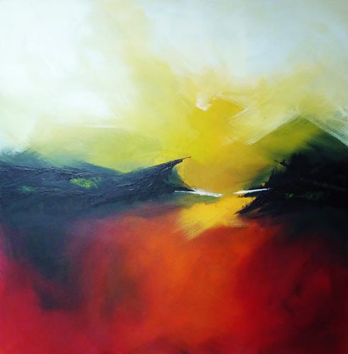 Petra Wendelken, In the morning light, Landscapes, Expressionism, Abstract Expressionism