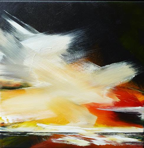 Petra Wendelken, Der Himmel über uns, Landscapes: Sea/Ocean, Expressionism, Abstract Expressionism