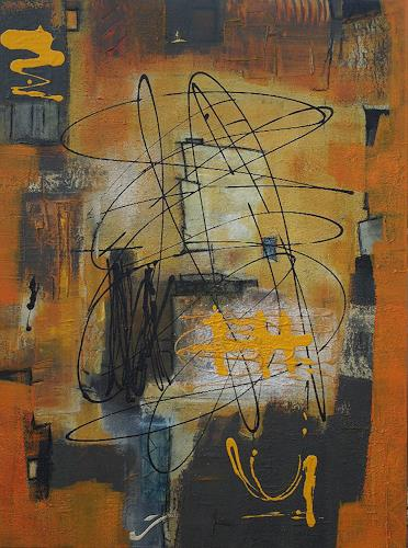 Iris Rickart, Durcheinander/Aus Gemeinsch.-Ausstell. gestohlen!, Abstract art, Abstract art, Abstract Art