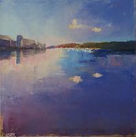 Christine-Oster-Landscapes-Sea-Ocean-Romantic-motifs-Sunset-Modern-Times-Realism