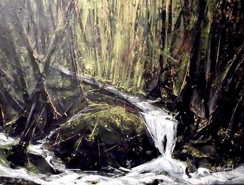 protofakt, Waldstimmung IV, Abstract art, Expressive Realism, Abstract Expressionism