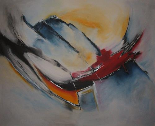 Christa Geßwagner, Aufstrebend, Abstract art