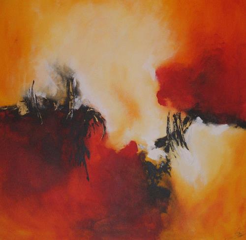 Christa Geßwagner, Der Feuerwall, Abstract art, Expressionism