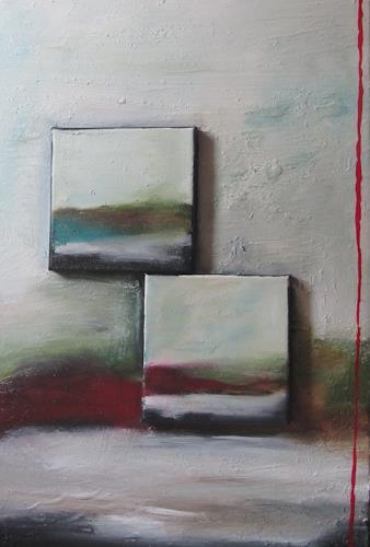 Christa Geßwagner, Aufeinander, Abstract art
