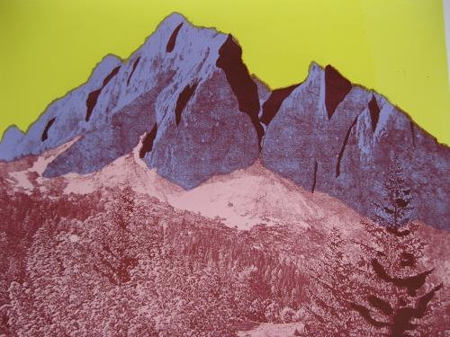 Irene Giesser, Gauschla, Landscapes: Mountains, Contemporary Art, Abstract Expressionism