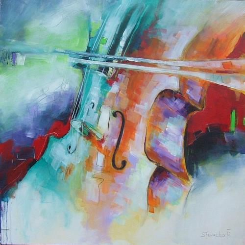 Michaela Steinacher, Musik liegt in der Luft, Music: Instruments, Abstract art, Contemporary Art