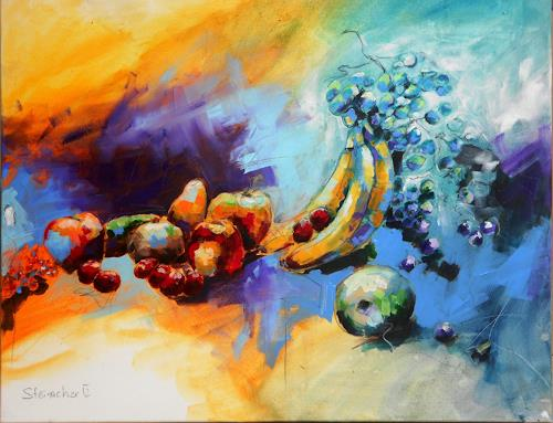Michaela Steinacher, ...fruchtig, Meal, Still life, Contemporary Art, Expressionism