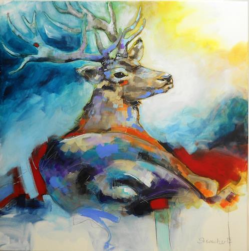 Michaela Steinacher, Hirschmania, Hunting, Still life, Contemporary Art, Expressionism