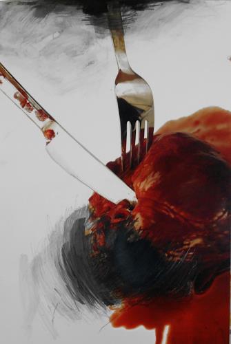 Michaela Steinacher, herzhaft, Meal, Burlesque, Contemporary Art, Abstract Expressionism