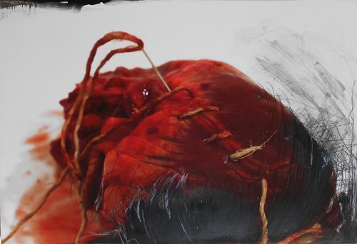 Michaela Steinacher, gebrochenes Herz, Symbol, Burlesque, Modern Age, Abstract Expressionism