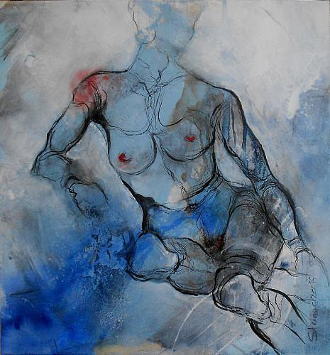Michaela Steinacher, timeless, Erotic motifs: Female nudes, Decorative Art, Contemporary Art, Expressionism