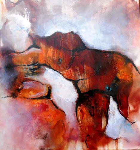 Michaela Steinacher, torso, People: Women, Erotic motifs: Female nudes, Expressionism