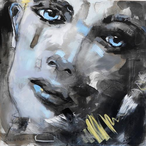 Michaela Steinacher, eyes III, People: Faces, Abstract art, Abstract Art, Expressionism