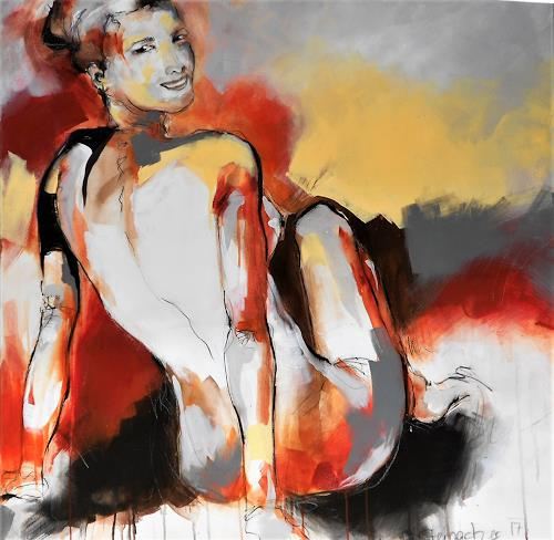 Michaela Steinacher, have a look, People: Women, Erotic motifs: Female nudes, Abstract Art, Expressionism