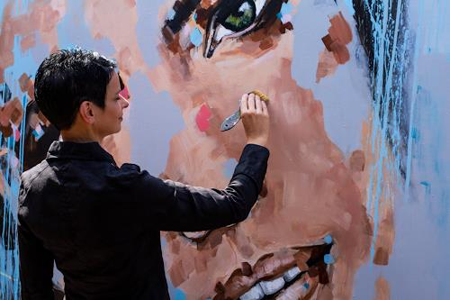 Michaela Steinacher, einfach glücklich, People: Faces, People, Abstract Art, Expressionism