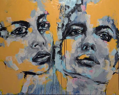Michaela Steinacher, steh auf, wenn du am Boden bist, People, People: Faces, Contemporary Art