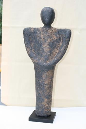 Annamarie + Vic Zumsteg, Skulptur schwarz (Annamarie Zumsteg), Decorative Art