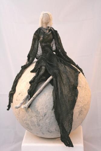 Vic Zumsteg, Lady auf Kugel (Vic Zumsteg), Decorative Art, Abstract art