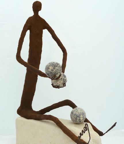 Annamarie + Vic Zumsteg, der Finanzjoungleur (Vic Zumsteg), Abstract art, Decorative Art