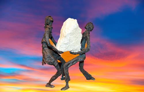 Annamarie + Vic Zumsteg, We make it  /  Wir schaffen das (Vic Zumsteg), Decorative Art, Emotions: Joy, Abstract Art, Abstract Expressionism