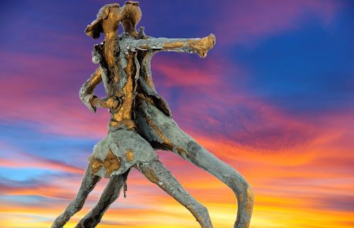 Annamarie + Vic Zumsteg, Dancing star (Vic Zumsteg), Abstract art, Decorative Art, Art Déco, Expressionism