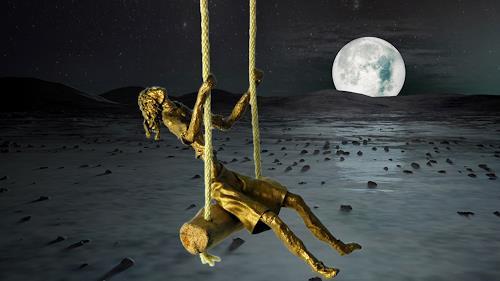 Annamarie + Vic Zumsteg, Flight through the universe (Vic Zumsteg, Abstract art, Decorative Art, Art Déco, Abstract Expressionism