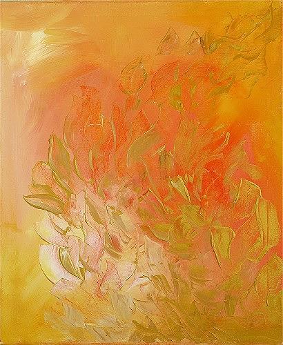 Petra Foidl, Ruf des Herzens, Abstract art, Emotions: Love