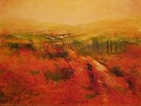 Petra-Foidl-Landscapes-Summer-Landscapes-Hills-Modern-Age-Abstract-Art
