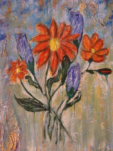 Ursula Bieri, Blumen, Abstract art, Plants: Flowers, Modern Age