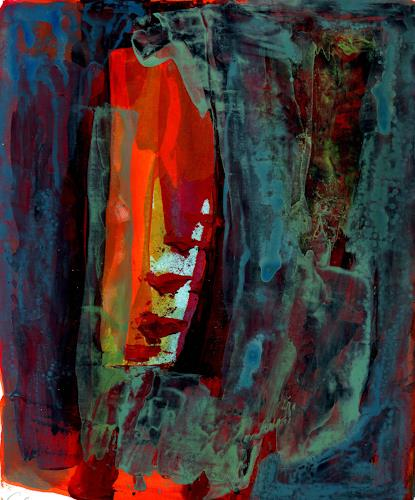 Christa Otte-Kreisel, summernight, Abstract art