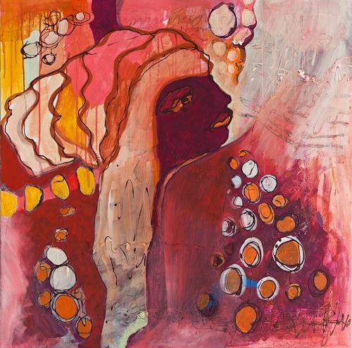 Christa Otte-Kreisel, Cilaos - oder: die Kreolin, People: Women, Contemporary Art, Expressionism