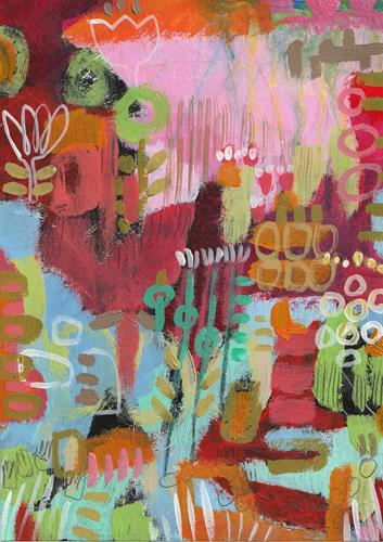 Christa Otte-Kreisel, il giardino, Miscellaneous Plants, Abstract Expressionism, Expressionism