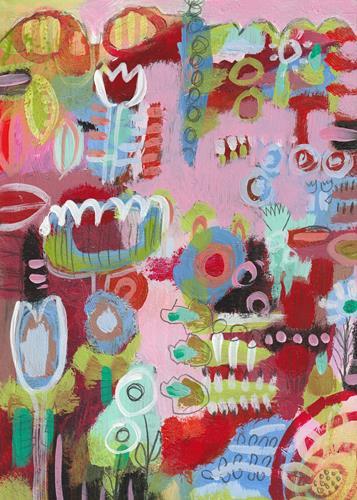 Christa Otte-Kreisel, flowers around, Plants: Flowers, Abstract Art