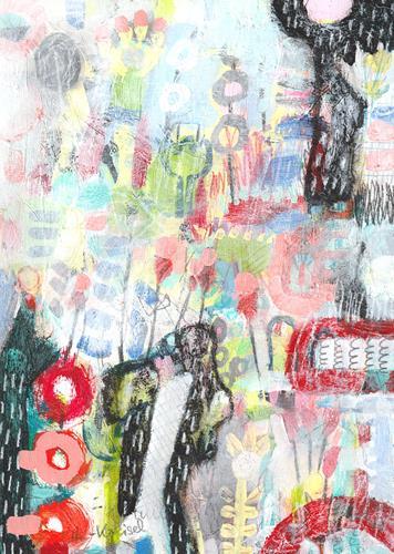 Christa Otte-Kreisel, what's happen, Fantasy, Abstract Art