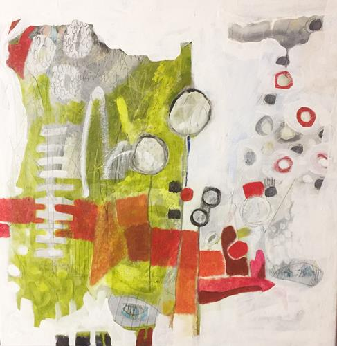 Christa Otte-Kreisel, GrenzÜbergang, Abstract art, Contemporary Art, Abstract Expressionism