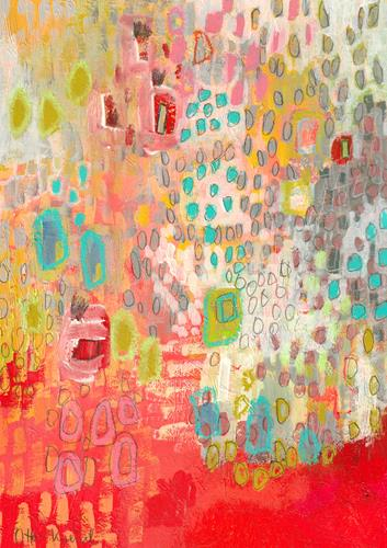Christa Otte-Kreisel, colorful raindrops, Abstract art, Contemporary Art