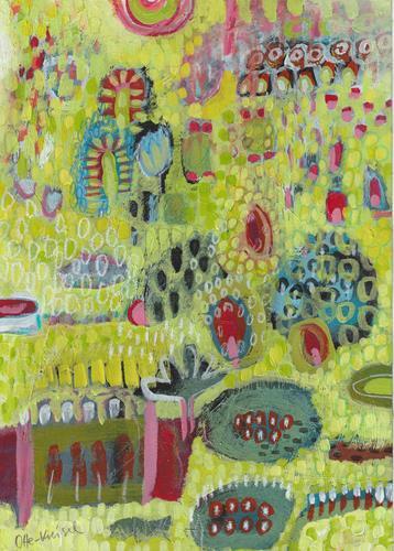 Christa Otte-Kreisel, summer, Abstract art, Contemporary Art