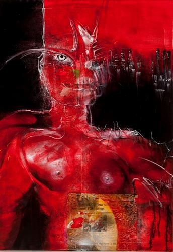 Peter K. Endres, Red Amazone, Miscellaneous Erotic motifs, Mythology, Contemporary Art, Abstract Expressionism