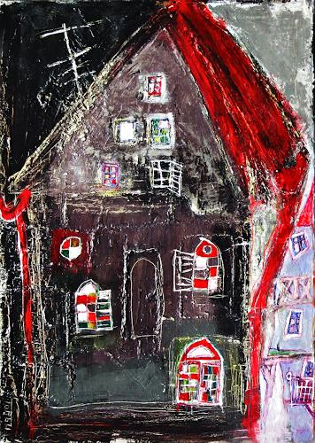 torsten burghardt, altes haus, Buildings: Houses, Buildings: Houses, Abstract Expressionism