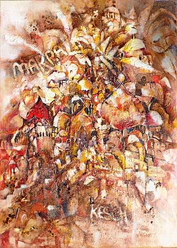 Gertraud Wagner, Marrakesch, Market, Abstract Expressionism