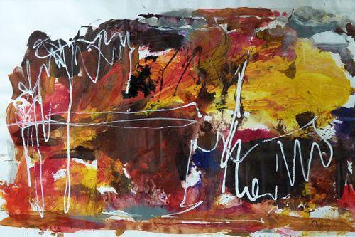 Gertraud Wagner, Farbenfreude, Abstract art