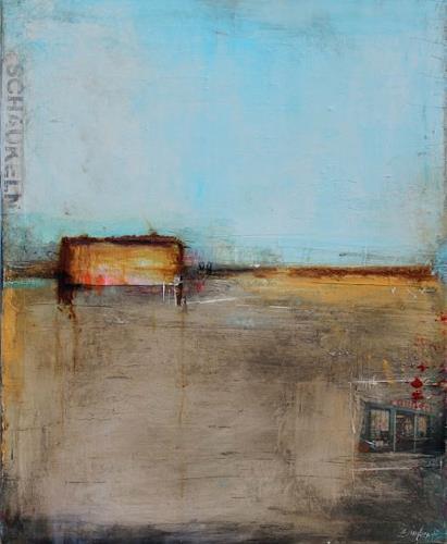 Birgit Dierker, kiezschaukeln, Abstract art, Landscapes, Contemporary Art, Abstract Expressionism