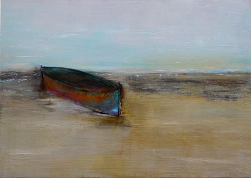 Birgit Dierker, friedliche Vorfreude, Landscapes, Landscapes: Sea/Ocean, Non-Objectivism [Informel], Expressionism